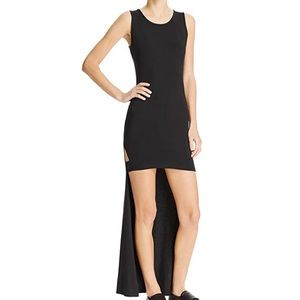 NWT Micromodal Jersey Hi-Low Casual Dress Black